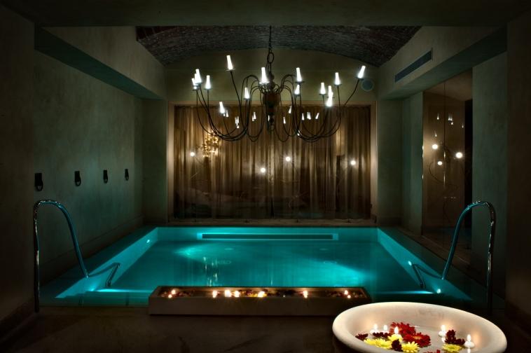 Milan magic spa at chateau monfort giorgia boitano for Enlighten sauna
