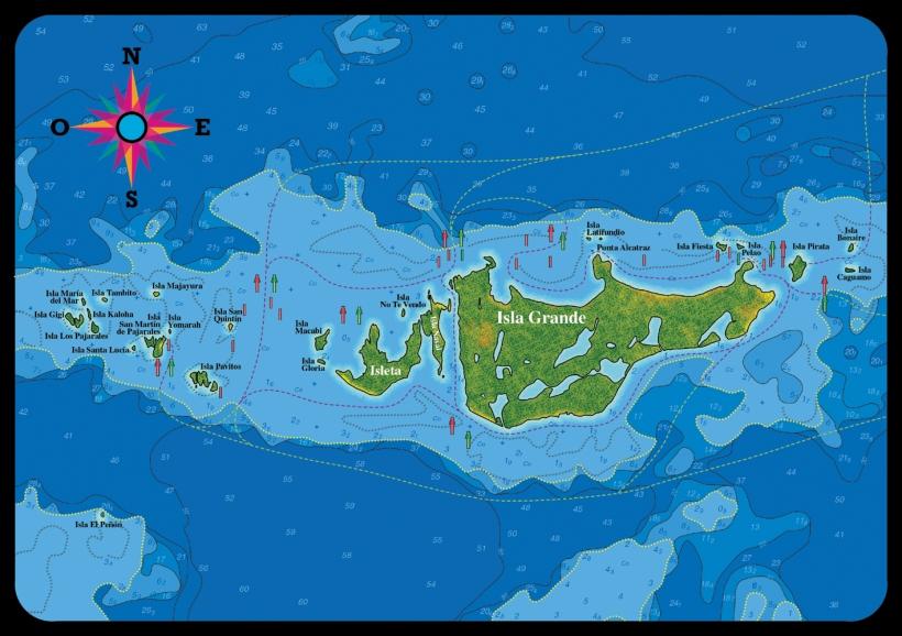 colombia-islas-del-rosario-map